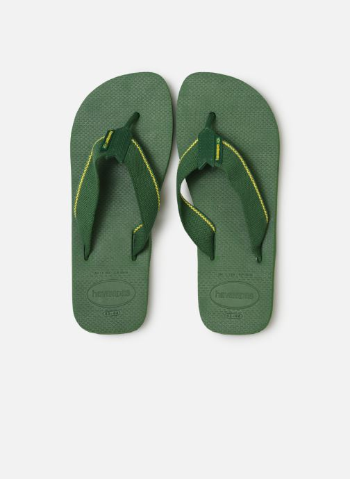 Tongs Havaianas Urban Brasil Vert vue portées chaussures