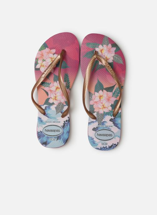 Tongs Havaianas Slim Tropical Sunset Multicolore vue portées chaussures