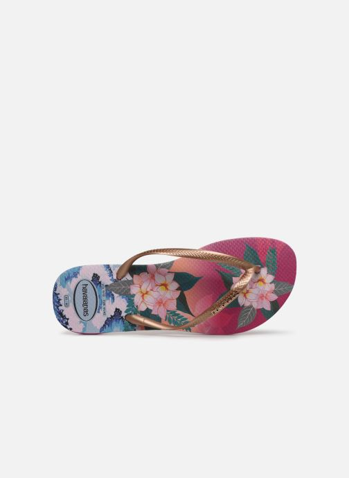 Tongs Havaianas Slim Tropical Sunset Multicolore vue gauche