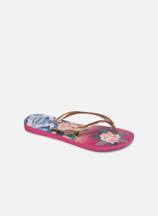 Tongs Havaianas Slim Tropical Sunset Multicolore vue détail/paire