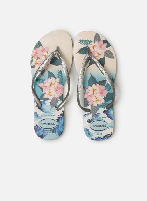 Tongs Havaianas Slim Tropical Sunset Multicolore vue portées chaussures