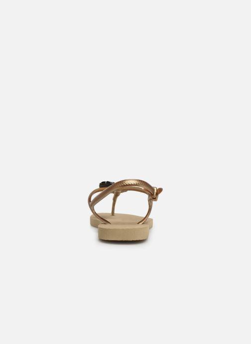 Sandali e scarpe aperte Havaianas Freedom Metal Pin Beige immagine destra