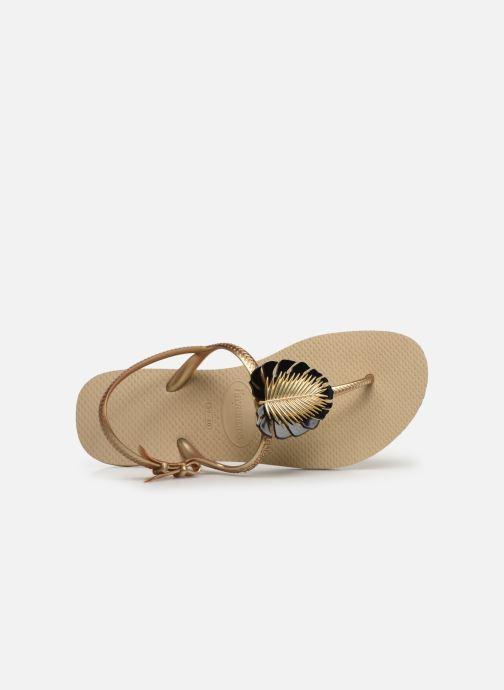 Sandali e scarpe aperte Havaianas Freedom Metal Pin Beige immagine sinistra