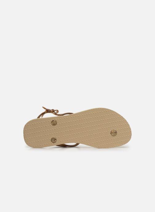 Sandali e scarpe aperte Havaianas Freedom Metal Pin Beige immagine dall'alto