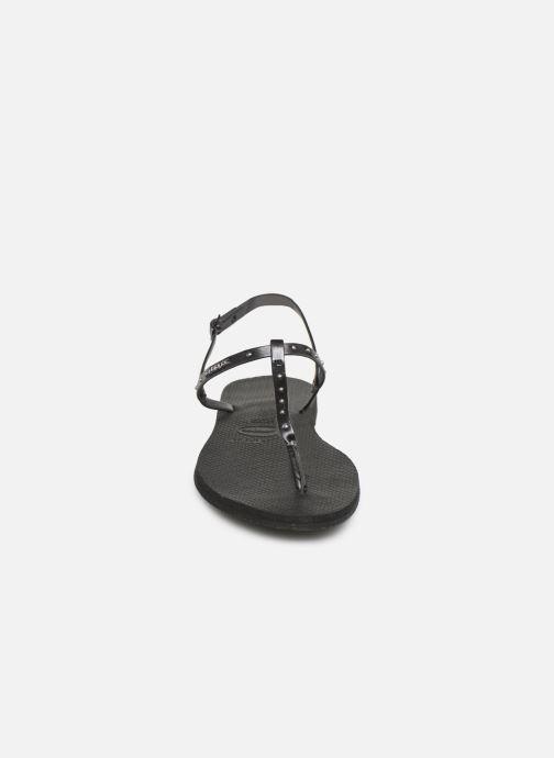 Sandales et nu-pieds Havaianas You Riviera Maxi Noir vue portées chaussures