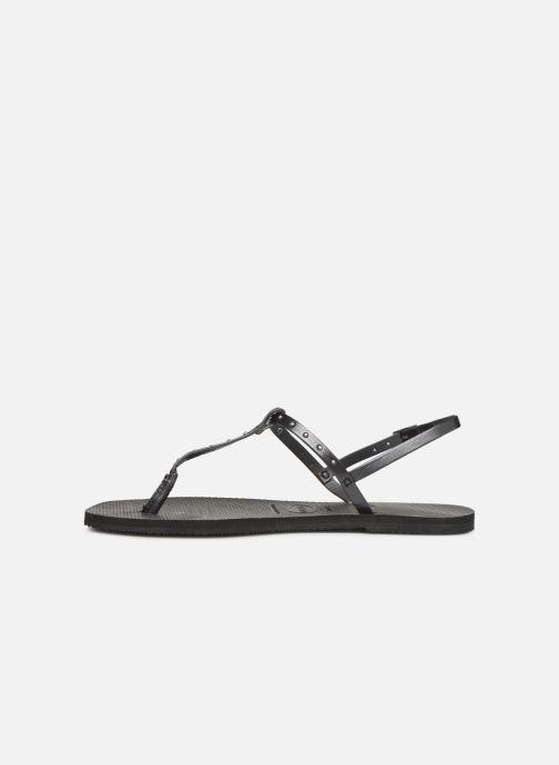Sandales et nu-pieds Havaianas You Riviera Maxi Noir vue face