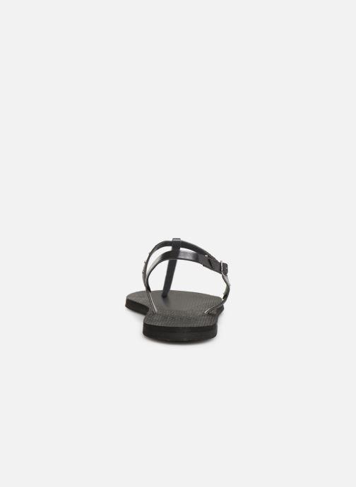 Sandales et nu-pieds Havaianas You Riviera Maxi Noir vue droite