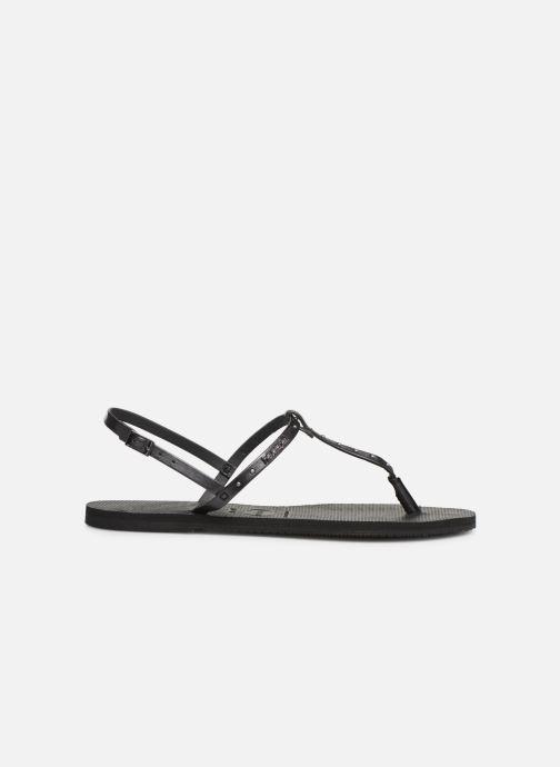 Sandales et nu-pieds Havaianas You Riviera Maxi Noir vue derrière