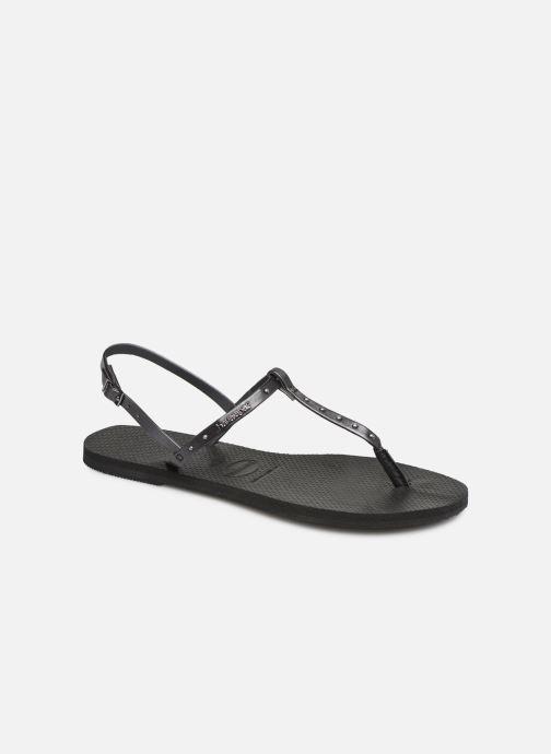Sandales et nu-pieds Havaianas You Riviera Maxi Noir vue détail/paire