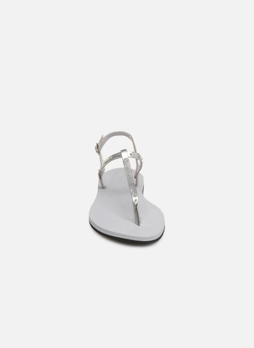 Sandales et nu-pieds Havaianas You Riviera Maxi Gris vue portées chaussures