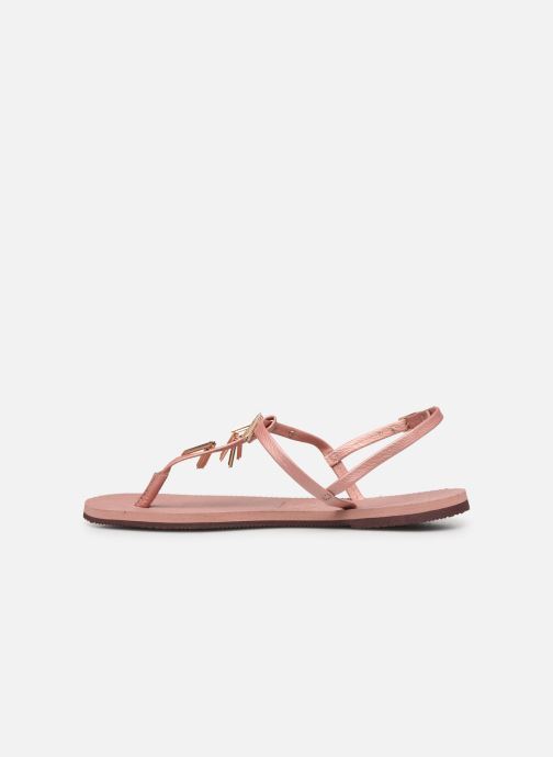 Sandals Havaianas You Riviera Maxi Pink front view