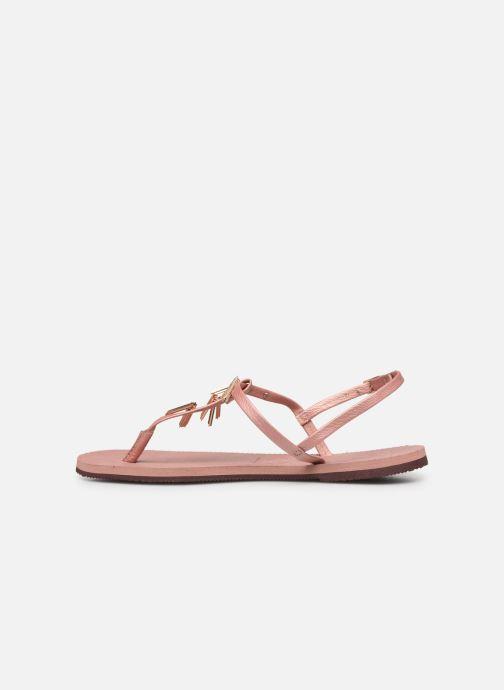 Sandali e scarpe aperte Havaianas You Riviera Maxi Rosa immagine frontale