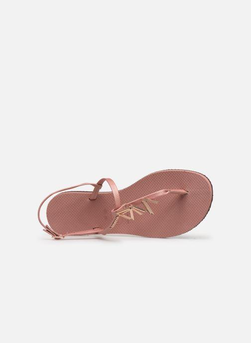 Sandali e scarpe aperte Havaianas You Riviera Maxi Rosa immagine sinistra