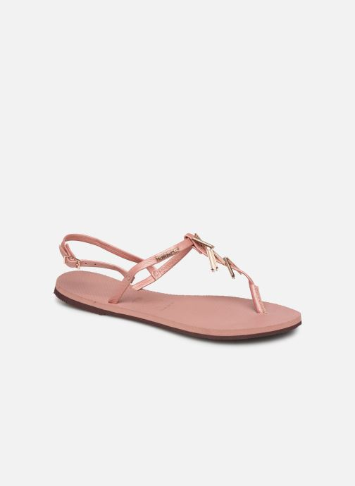 Sandals Havaianas You Riviera Maxi Pink detailed view/ Pair view