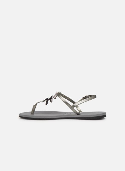 Sandals Havaianas You Riviera Maxi Silver front view