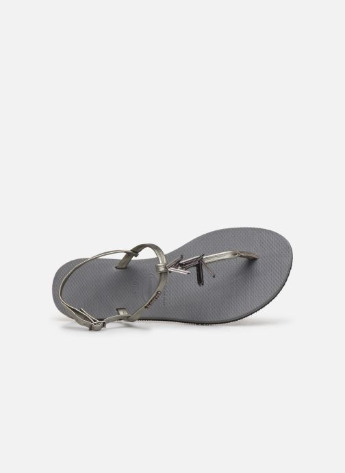 Sandals Havaianas You Riviera Maxi Silver view from the left