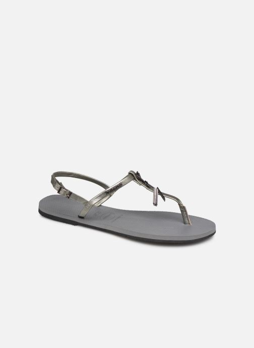 Sandals Havaianas You Riviera Maxi Silver detailed view/ Pair view