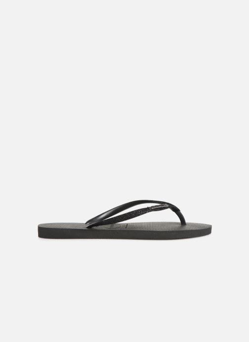 Slippers Havaianas Slim Glitter Zwart achterkant