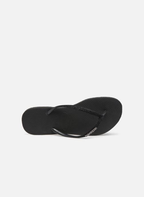 Slippers Havaianas Slim Glitter Zwart links