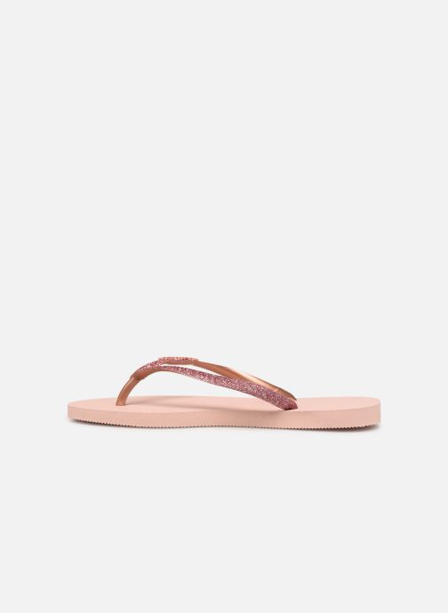 Tongs Havaianas Slim Glitter Rose vue face