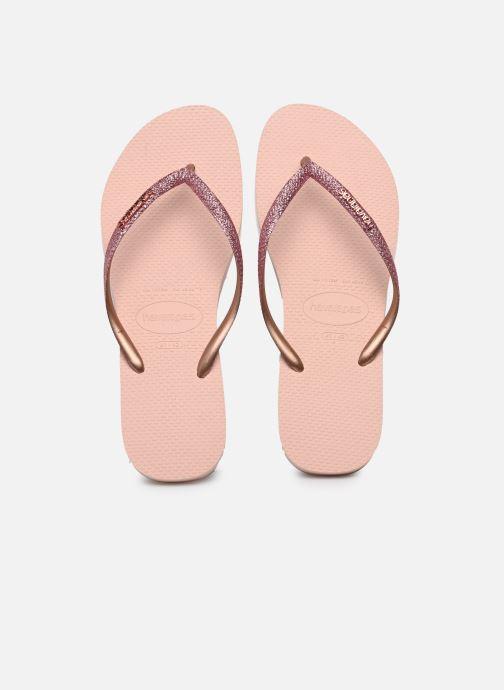 Zehensandalen Havaianas Slim Glitter rosa detaillierte ansicht/modell