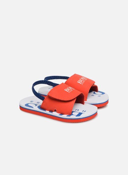Sandaler BOSS Claquette J09110 Röd detaljerad bild på paret