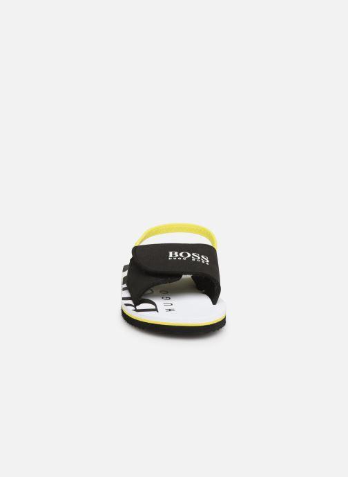 Sandalen BOSS Claquette J09110 schwarz schuhe getragen