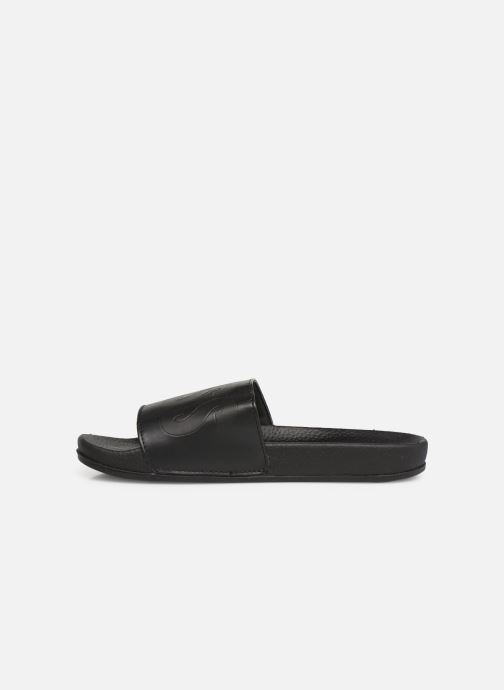 Sandales et nu-pieds BOSS Claquette Logo J29171 Noir vue face
