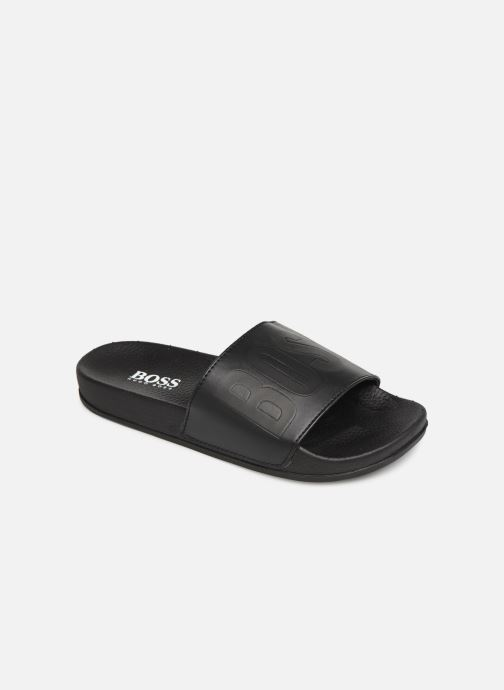 Sandales et nu-pieds BOSS Claquette Logo J29171 Noir vue détail/paire