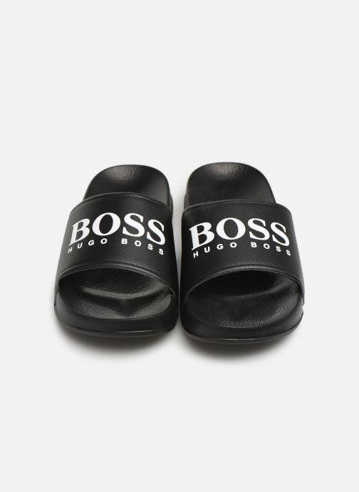 Sandales et nu-pieds BOSS Claquette print J29173 Noir vue 3/4