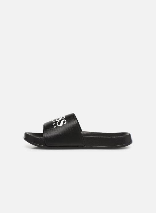 Sandales et nu-pieds BOSS Claquette print J29173 Noir vue face
