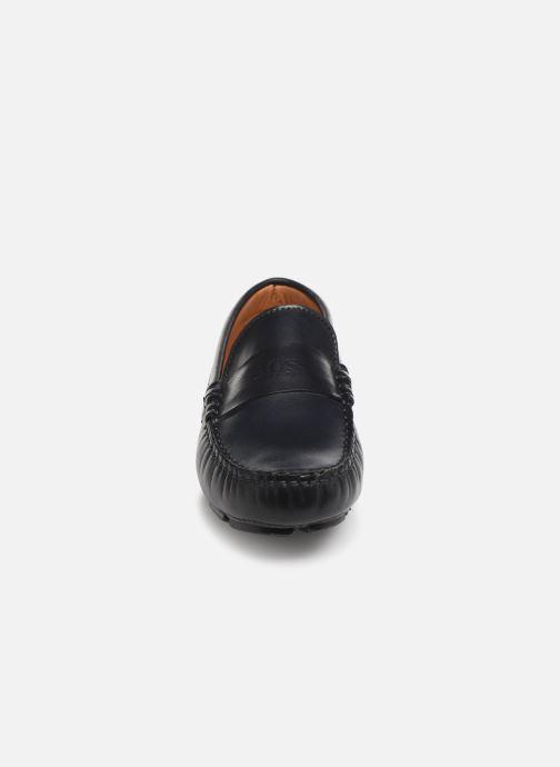 Slipper BOSS Mocassin J29182 blau schuhe getragen
