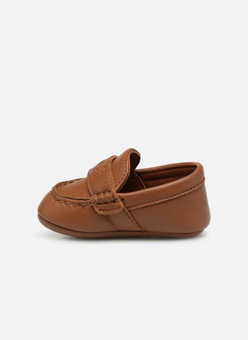Pantofole BOSS Mocassin BB J99064 Marrone immagine frontale