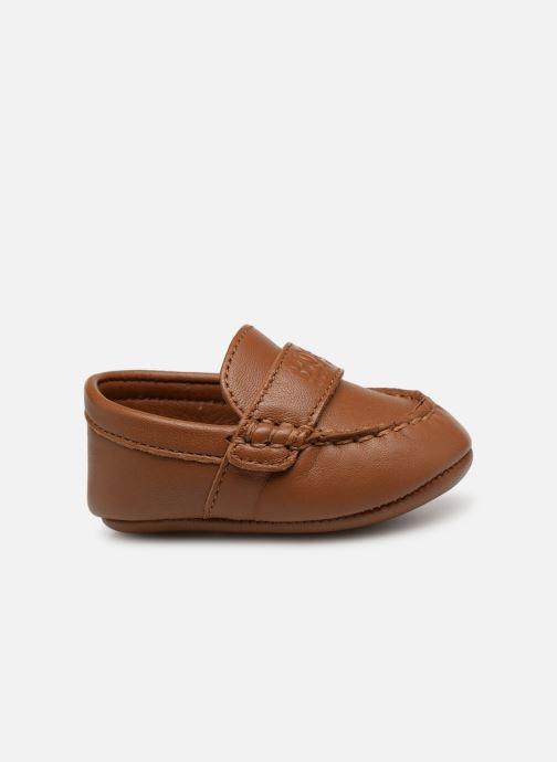 Pantofole BOSS Mocassin BB J99064 Marrone immagine posteriore