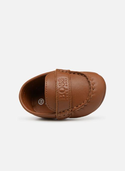 Pantofole BOSS Mocassin BB J99064 Marrone immagine sinistra