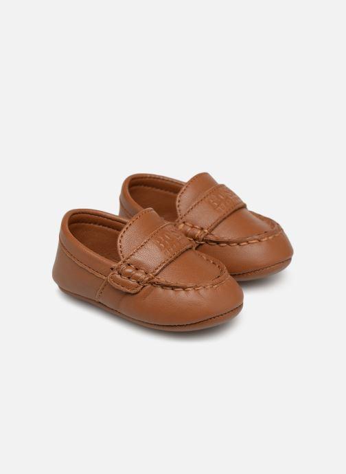 Pantofole BOSS Mocassin BB J99064 Marrone vedi dettaglio/paio