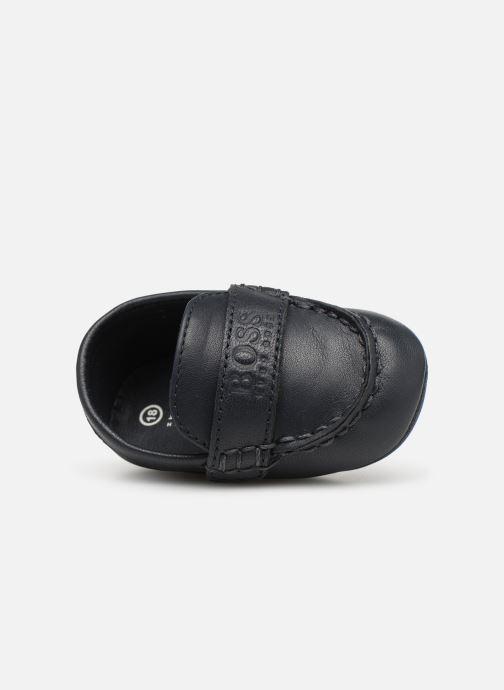 Pantofole BOSS Mocassin BB J99064 Azzurro immagine sinistra