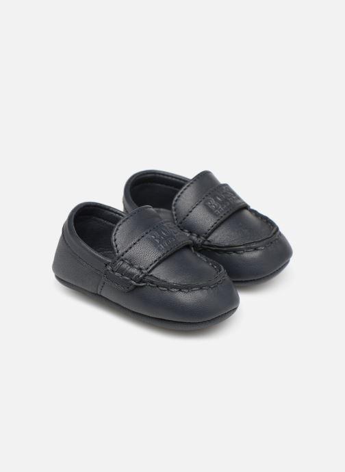 Hjemmesko BOSS Mocassin BB J99064 Blå detaljeret billede af skoene