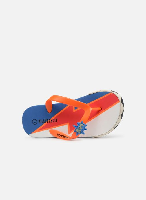Tongs Billybandit WONDERFUL Orange vue gauche