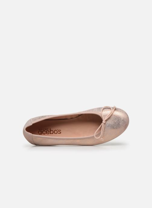 Ballet pumps Acebo's Julia Silver view from the left