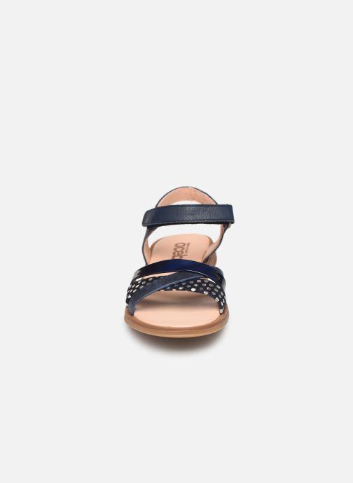 Sandales et nu-pieds Acebo's Apolina Bleu vue portées chaussures