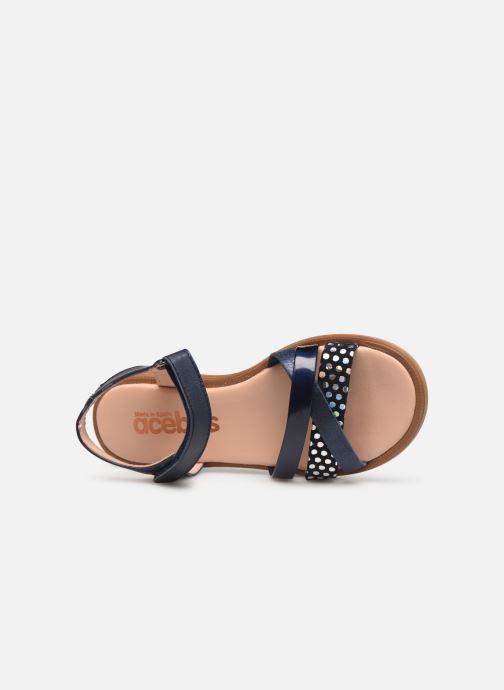 Sandales et nu-pieds Acebo's Apolina Bleu vue gauche