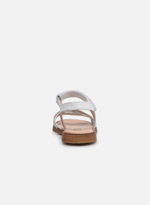 Sandales et nu-pieds Acebo's Apolina Blanc vue droite
