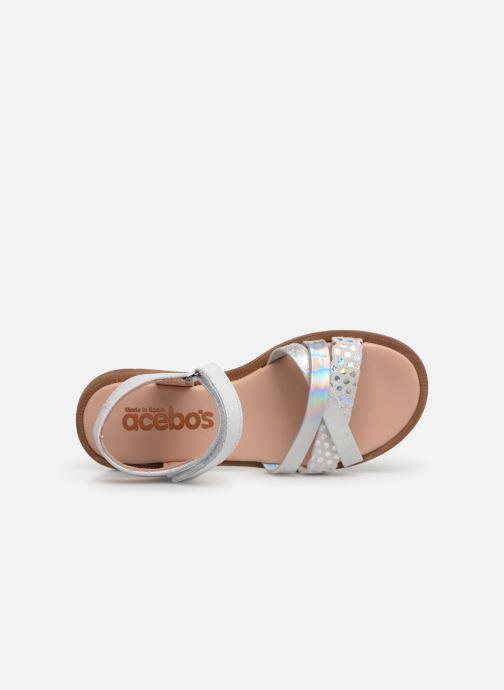 Sandales et nu-pieds Acebo's Apolina Blanc vue gauche