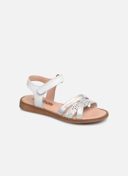 Sandales et nu-pieds Acebo's Apolina Blanc vue détail/paire