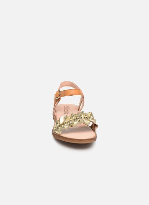 Sandales et nu-pieds Acebo's Martina Or et bronze vue portées chaussures