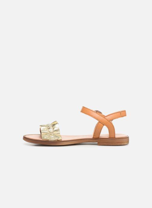 Sandales et nu-pieds Acebo's Martina Or et bronze vue face