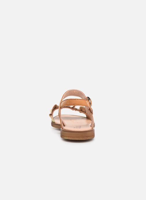 Sandales et nu-pieds Acebo's Martina Or et bronze vue droite