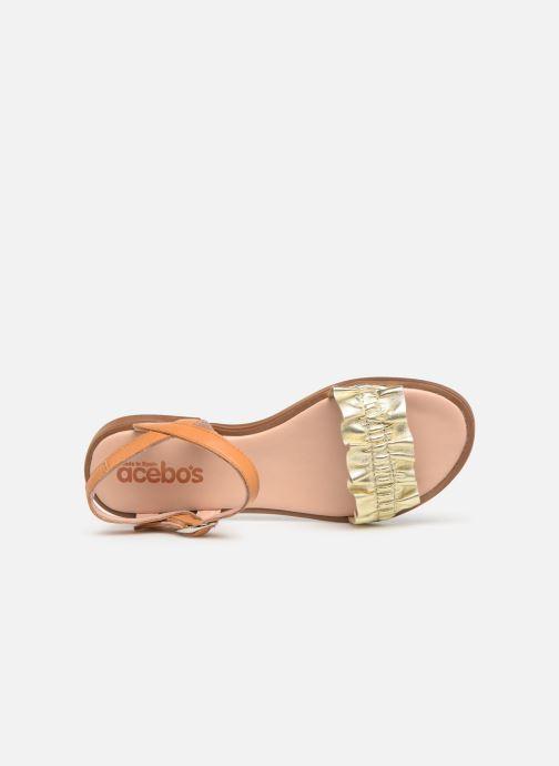 Sandales et nu-pieds Acebo's Martina Or et bronze vue gauche