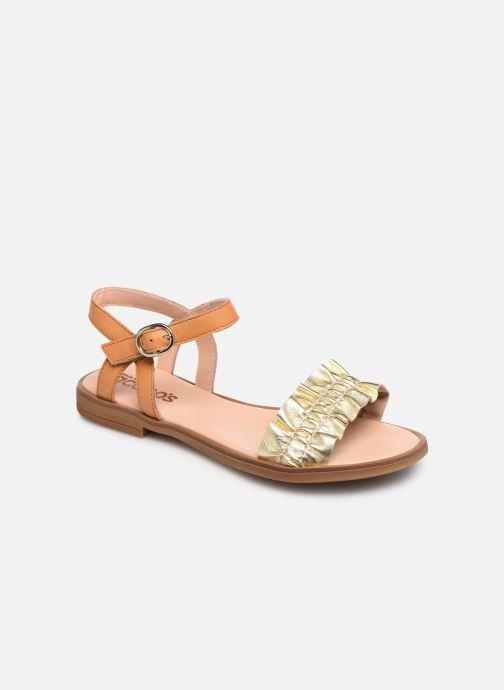 Sandales et nu-pieds Acebo's Martina Or et bronze vue détail/paire